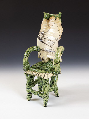 Artist: Goro Suzuki, Title: 	 Oribe Chair, 2001 (view 2) - click for larger image