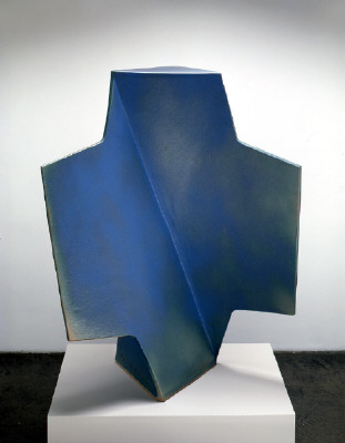 Artist: John Mason, Title: Cross, Blue with Green, 2004 - click for larger image