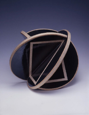 Artist: John Mason, Title: Trans Orb, Black with Tracers, 2006 - click for larger image