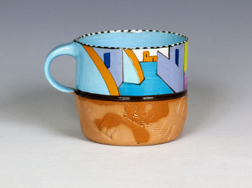Artist: Ken Price, Title: Mexican Village Cup #2, c. 1972-77 - click for larger image
