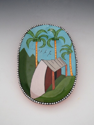 Artist: Ken Price, Title: Palm Plate, 1977 - click for larger image