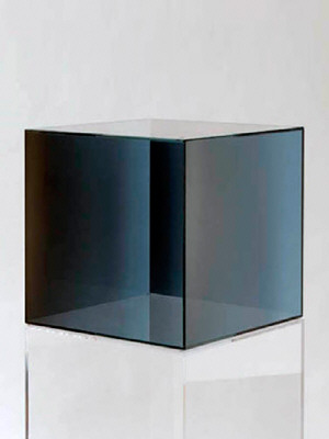 Artist: Larry Bell, Title: Cube 12, 2006 - click for larger image