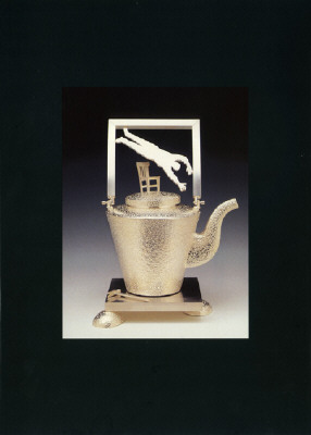 Artist: Christina Smith, Title: Announcement Card for Christina Smith: Teapots Exhibition, October 4, 1997 - November 1, 1997. - click for larger image