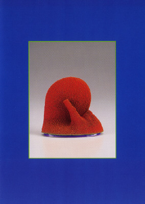 Artist: Ron Nagle, Title: Announcement Card for Ron Nagle: New Work Exhibition, May 2, 1998 - June 3, 1998. - click for larger image