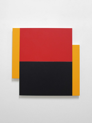 Artist: Scot Heywood, Title: Poles Yellow, Red, Blue, 2012 - click for larger image
