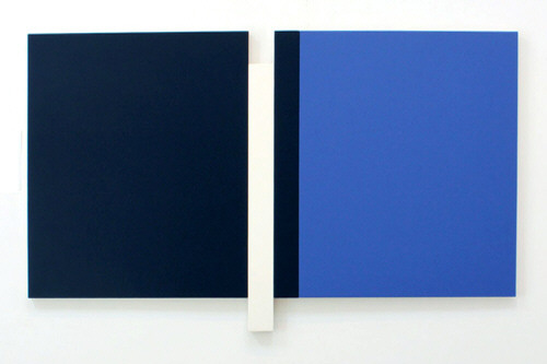 Artist: Scot Heywood, Title: Sunyata Black, Blue, White, 2012 - click for larger image