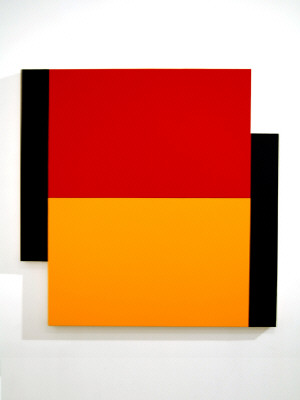 Artist: Scot Heywood, Title: Two Poles, Red, Yellow, Blue, 2011 - click for larger image