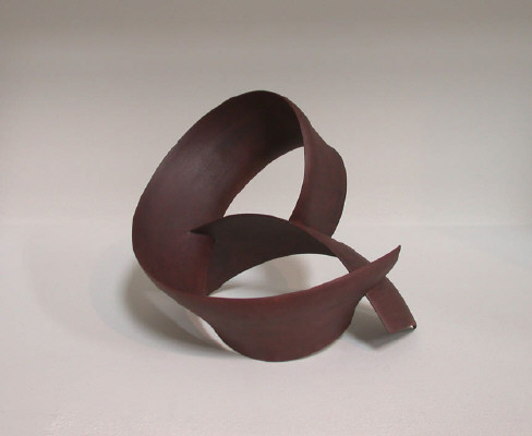 Artist: Wouter Dam, Title: Dark Red Sculpture (detail), 2005 - click for larger image