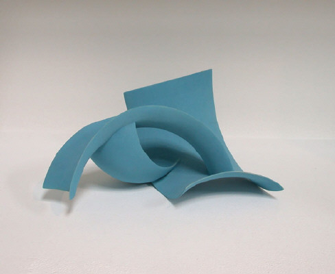 Artist: Wouter Dam, Title: Turquoise Sculpture, 2005 - click for larger image